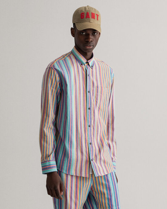 Relaxed Fit gestreept Windblown Oxford-overhemd