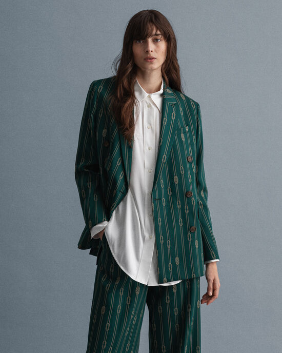 Rope Design double-breasted blazer