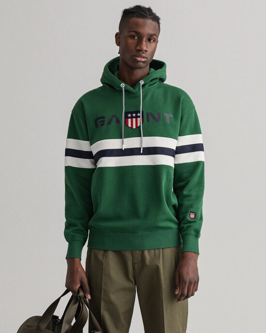 Relaxed Fit Retro Shield hoodie